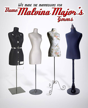 Purfex has made the mannequins for the 'Dame Malvina Major Gown Exhibition' at Kirkcaldie and Stains, Wellington opening on the 15 June. New Zealand designers Liz Mitchell / Richard Holden / Molyneux have been favourites of Dame Malvina as they understood the requirements of gowns which need to be visually stunning but practical and support the singer in performance. These designs along with beautiful gowns designed in Paris and the USA are part of this collection.